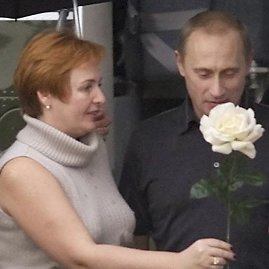 """""""Reuters""""/""""Scanpix"""" nuotr./Vladimiras Putinas su buvusia žmona Liudmila"""