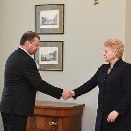 R.Dačkaus nuotr./Saulius Skvernelis ir Dalia Grybauskaitė