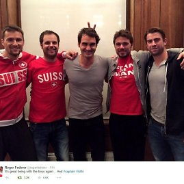 """""""Twitter"""" nuotr./Rogeris Federeris prisijungė prie Šveicarijos teniso rinktinės"""
