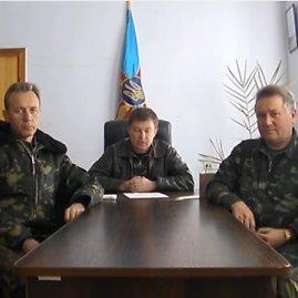 Stop kadras/Ukrainos karinio dalinio Belbeke vadas Julijus Mamčuras