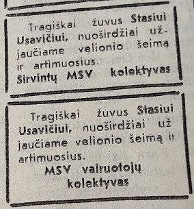 """Ugniaus Antanavičiaus nuotr./Užuojauta Širvintų laikraštyje """"Lenino žvaigždė"""" viesulo aukoms"""