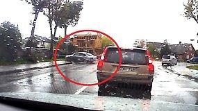 Liudininko užfiksuota avarija