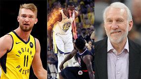 """""""Atsarginiai"""": perlaužtas Domantas Sabonis, braškantys čempionai ir """"Spurs"""" likimas"""