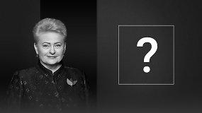 Prezidentės Dalios Grybauskaitės klausimas kandidatams