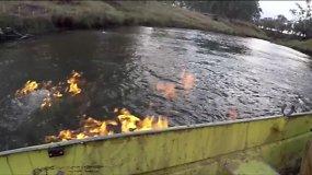 Australijos politikas padegė upę