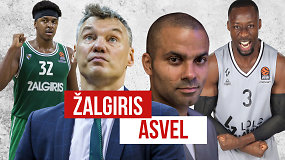 """""""Eurolygos diena"""": Š.Jasikevičiaus """"Žalgiris"""" prieš T.Parkerio ASVEL"""