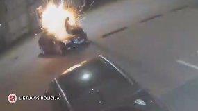 Sulaikytas automobilį sprogdinęs vyras jau buvo žinomas policijai