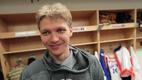 M.Kuzminskas – apie dvikovą su J.Valančiūnu, gerėjantį žaidimą ir Niujorko fanų palaikymą