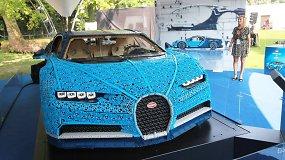 """""""Lego"""" sukonstravo 20 km/val. greičiu važiuojantį realaus dydžio """"Bugatti Chiron"""""""
