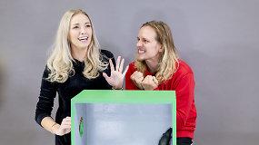 """""""Atspėk, kas dėžėje"""" – rekordinis klyksmų skaičius: Anžela ir Žygis Gečas prakaitavo ir klykė"""