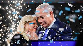 Izraelio premjeras B.Netanyahu po įtemptų rinkimų artėja prie pergalės