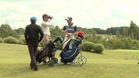 Pirmoji Lietuvos atvirojo golfo mėgėjų čempionato diena
