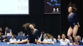 Įspūdinga gimnastės programa tapo internetine sensacija – mergina užkariavo pasaulio simpatijas