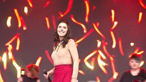 """""""Eurovizijos"""" nugalėtoja Jamala koncertavo Vilniaus Katedros aikštėje"""