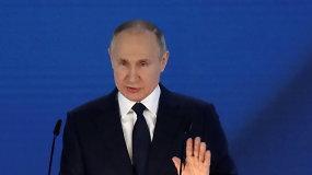 """V.Putinas: keliantys grėsmę Rusijos interesams """"gailėsis, kaip jau seniai nesigailėjo"""""""