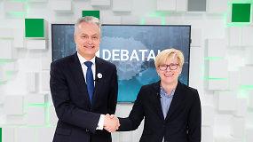 15min studijoje – prezidento posto siekiančių G.Nausėdos ir I.Šimonytės debatai