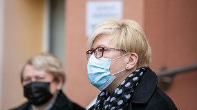 Premjerė I.Šimonytė lankėsi Švenčionių vakcinavimo centre