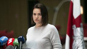 S.Cichanouskaja: Romanas Protasevičius akivaizdžiai sumuštas ir patiria spaudimą