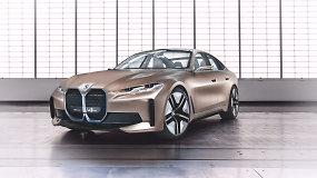 "BMW pristatė ""Concept i4"" modelį bei naująjį logotipą"