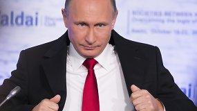 Vladimiras Putinas: vienas pilotas išgelbėtas, rusams vykti į Turkiją nerekomenduoju