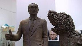 Menininkas iš šokolado nuliejo Vladimiro Putino antrininką