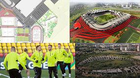 """""""Vieni vartai"""": atskleistos Lietuvos nacionalinio futbolo stadiono detalės"""