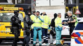 Per galimą teroro ataką Utrechto tramvajuje žuvo trys žmonės – pabėgusį užpuoliką medžioja policija