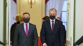 """Vilniuje A.Dudą priėmęs G.Nausėda apie Lenkijos veto: """"Raskime sprendimą, nes kitaip kentėsime visi"""""""