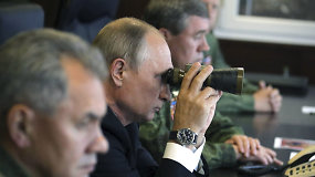 """Vladimiras Putinas stebėjo karines pratybas """"Zapad 2017"""""""