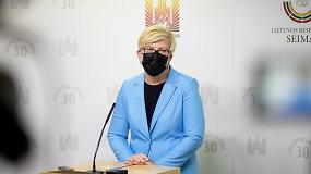 I.Šimonytė: Lietuva informavo Lenkiją apie sustiprintą vidaus sienos apsaugą