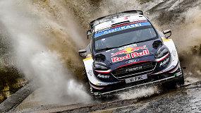 Grėsmingajame WRC Velso ralyje triumfavo medžių ir griovių išvengęs S.Ogier