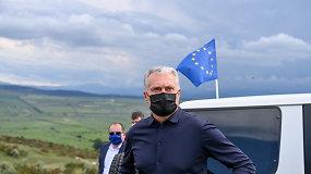 Prie okupuotų teritorijų Pietų Osetijoje apsilankęs G.Nausėda: Lietuvoje tokį gyvenimą įsivaizduoti sunku