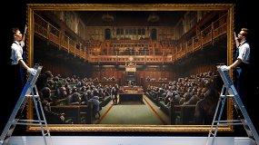 Banksy paveikslas parduotas už rekordinę sumą: šis kūrinys šiandien aktualus kaip niekada anksčiau