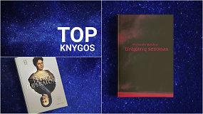 Knygų TOP10: naujas K.Sabaliauskaitės romanas, M.Atwood, kriminaliniai romanai, poezija ir brutali tikrovė