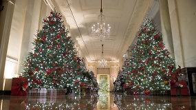 Įvertinkite: Melania Trump parodė, kaip Kalėdoms papuošė Baltuosius rūmus