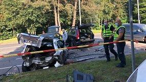 """Liudinininko komentaras po masinės automobilių avarijos: """"Pro mane praskriejo"""""""