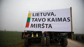 Žemdirbiai visoje Lietuvoje traktoriais išriedėjo į gatves