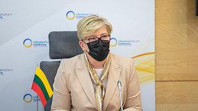 """I.Šimonytė Lietuvos ir Ukrainos spaudos konferencijoje: """"Lietuva prisimena, ką reiškia atkurti valstybę, reformuoti kiekvieną jos gyvenimo sritį"""""""