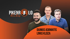 PIKENROLO KLUBAS: L.Kleizos karjeros klaida, FIBA-NBA lyga ir D.Adomaičio konspektai