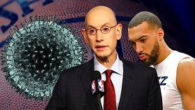 """""""Atsarginiai"""": sustabdyta NBA, nežinomybė ir kvaili prancūzo juokeliai dėl viruso"""