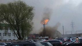 Užfiksavo sprogimo momentą Klaipėdos centre: pastatas subyrėjo per kelias sekundes