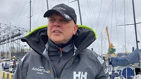 """""""Ambersail-2"""" komandos vadovas: buriuotojams blogo oro nėra – jis blogas tik tada, kai nėra vėjo"""