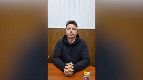 Baltarusijos režimas išplatino R.Pratasevičiaus vaizdo įrašą