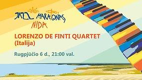 15min pristato – Nida Jazz Maratonas: Lorenzo De Finti Quartet (Italija)