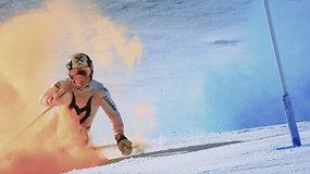 Pamatykite: įspūdingi žiemos sporto triukai ir bebaimiai ekstremalai