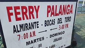"""Keltas """"Palanga"""" plaukioja Panamoje"""