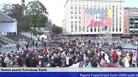 Popiežiaus vizitas: vakarinės šv. mišios Talino Laisvės aikštėje