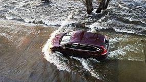 Rusnėje potvynio vanduo pasiekė pavojingą ribą