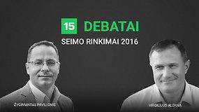 15min debatai: Žygimantas Pavilionis prieš Virgilijų Alekną