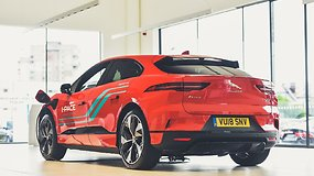 """Jaguar I-Pace"" prototipo bandomasis važiavimas"
